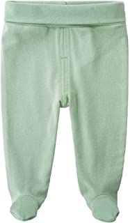 QGAKAGO Infant Baby Cotton High Waist Footed Pants Casual Leggings 0-12 Months