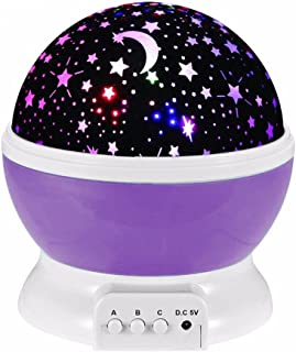 Tuelip Star Master Dream Color Changing Rotating Projection Lamp, Purple