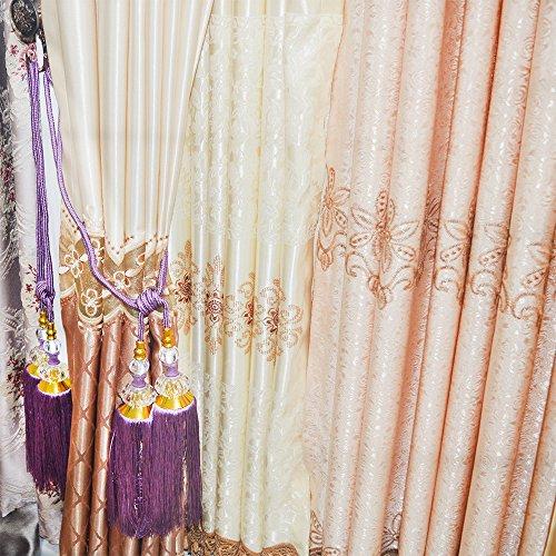 Ailejia 1Pair Wall hook Vintage Drapery Curtain Holdbacks Wall Mounted Towel Hook (Purple)