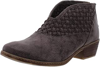 Not Rated Petra Woven V-Cut Low Heel Bootie