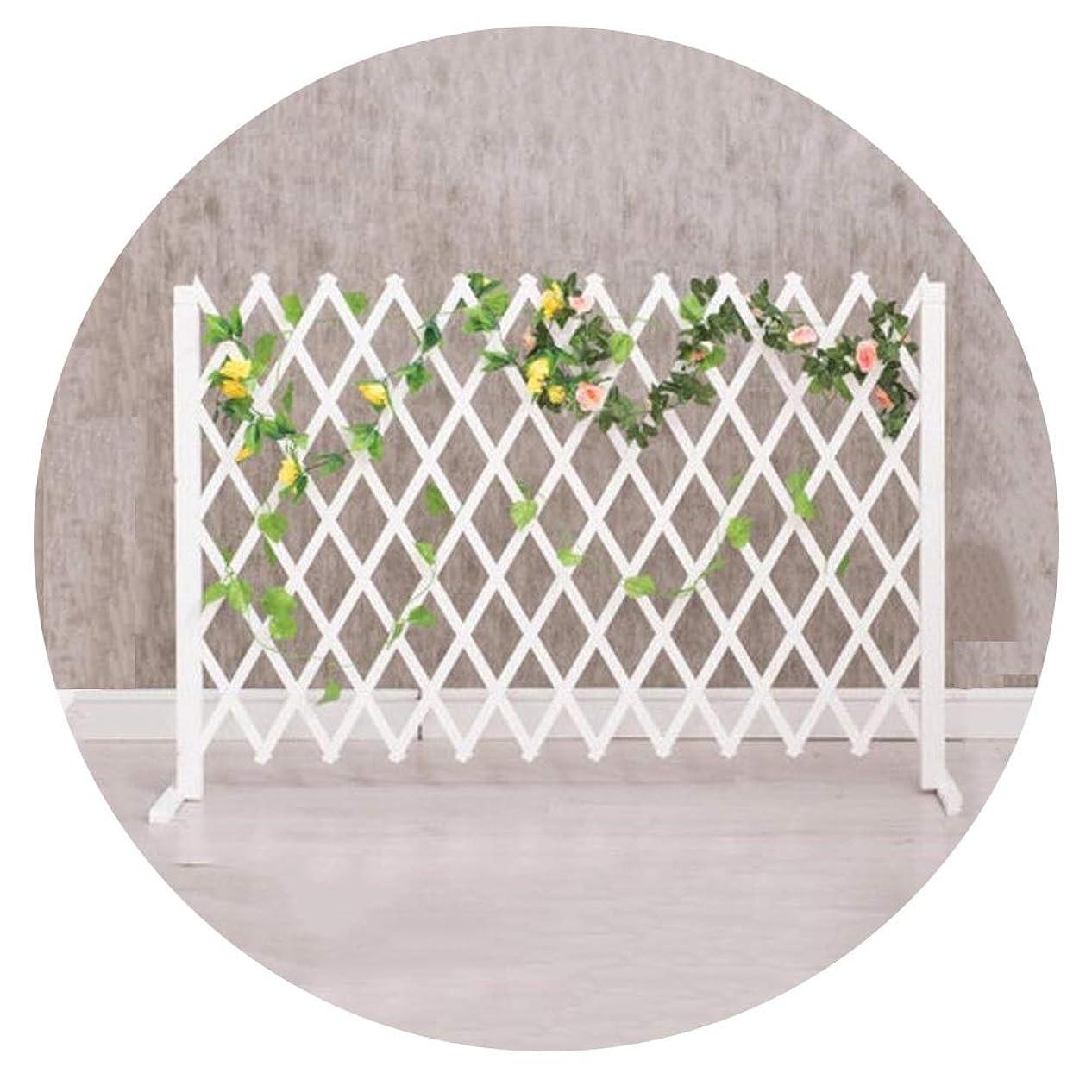 幾分補償コールYYFANG 木製フェンス屋内および屋外の仕切り小F防食プロセス耐候性含浸ローズ植物クライミングフレーム、2色、4サイズ (Color : White, Size : 160x75cm)