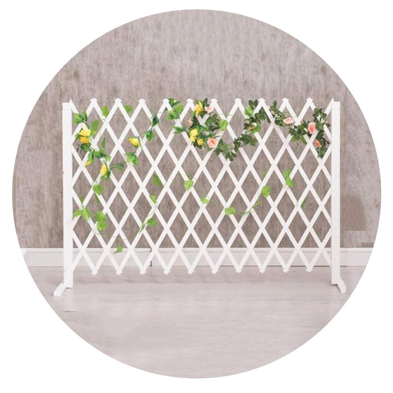 YYFANG 木製フェンス屋内および屋外の仕切り小F防食プロセス耐候性含浸ローズ植物クライミングフレーム、2色、4サイズ (Color : White, Size : 160x75cm)