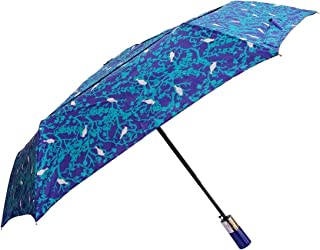 72d8002f1 John's 585mm Auto Open and Close Vented Canopy Navy Blue with Green Tree  Designer Umbrella