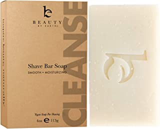 Organic Bar Soap for Shaving, Natural Soap, Shaving Soap for Men & Women, Mens Soap for Face, Foamy Lathering Vegan Soap Works As Shaving Cream, Organic Soap With Shea Butter (1 pack)