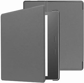 Capa para Kindle Oasis 9a geração (2017-2018) - Fecho magnético - Liga Desliga (Cinza)