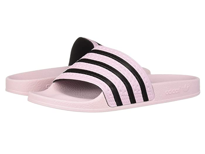 adidas  Adilette Slide (Clear Pink/Clear Pink/Core Black) Womens Slide Shoes