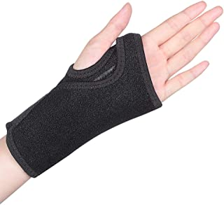 Wrist Brace, Wrist Splint Support Wrist Palm Protector with Metal Splint Stabilizer & Elastic Edged Thumb Hole for Carpal Tunnel, Tendonitis, Sports Injuries Pain Relief (Left Hand)