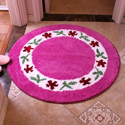 CXSM Living Room Floor Mat Slaapkamer Ronde Computer Stoel Pad absorberend verband Rotating Chair Basket Stoel van de rotan Pad (diameter 90 cm) (Color : D)