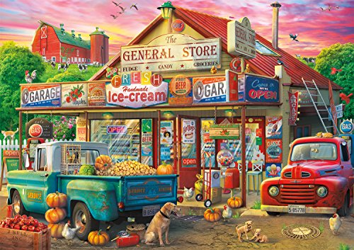 "Buffalo Games - Country Store - 500 Piece Jigsaw Puzzle, Multicolor, 21.25"" L X 15"" W"