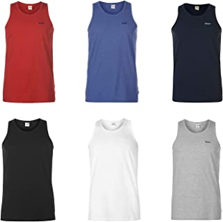 Lee Cooper Essential Vest Mens Singlet Tops Tank White X-Small