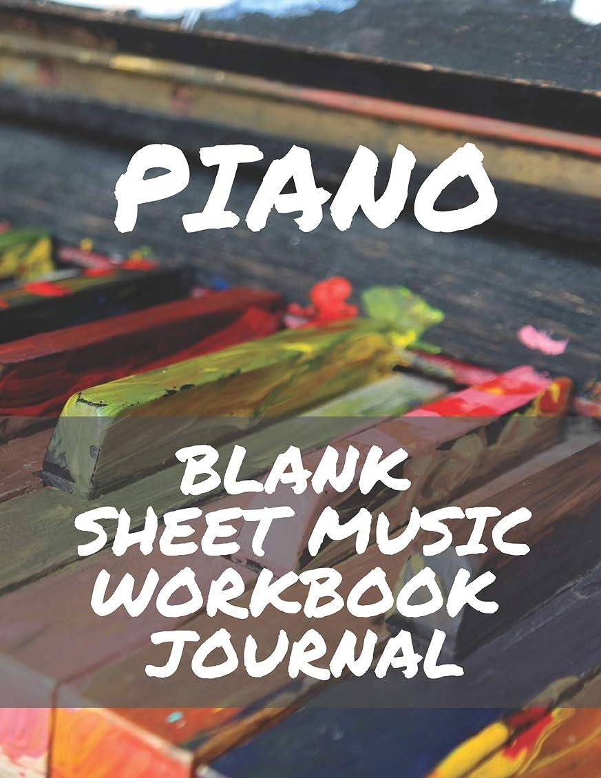 気球トレーニング最悪Piano Blank Sheet Music Workbook Journal: Perfect for Beginners Advanced Kids Students Musicians Composers, 8 Staves, Table of Contents with Page Numbers, White Paper 8.5x11 109 Pages