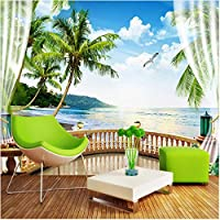 Xbwy 装飾壁画壁紙海の風景バルコニー壁画リビングルームテレビダイニングルーム防水キャンバス家の装飾-200X140Cm
