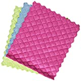 Pack of 3 Ultra Soft, Premium Quality non-abrasive Microfiber cloths (30 cm x 30 cm) Cleans with or without chemical cleaners, leaves lint and streak free results Absorbs upto eight times its own weight Pack comes with attractive towel colors Plush, ...