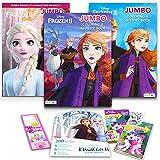 Disney Frozen Coloring Book Super Set -- 3 Deluxe Frozen Coloring Books with Frozen Stickers (Super Set)