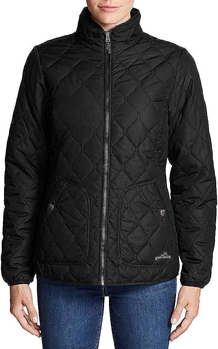 Eddie Bauer Women's Year Round Quilted Field Jacket (Black, Medium)
