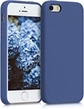 kwmobile TPU Silicone Case for Apple iPhone SE / 5 / 5S - Soft Flexible Rubber Protective Cover - Cornflower Blue