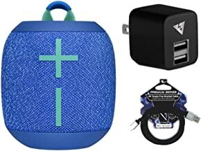 Ultimate Ears Wonderboom 2 Waterproof Bluetooth Speaker (Bermuda Blue) Bundle with USB Wall Charger and USB Cable (3 Items)