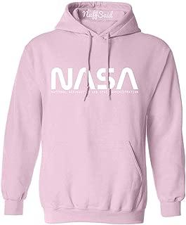 NuffSaid NASA Font Logo Hooded Sweatshirt Sweater Pullover - Unisex Hoodie