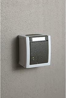 Interruttore di accensione/spegnimento da parete, grigio, adatto ad ambienti umidi