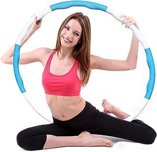 D/émontable Portable Fitness Adulte Largeur r/églable Hula Hoop pour Le Fitness//Dance//Entra/înement FANIER Hula Hoop 8 Sections D/étachables 1,2 kg Cerceau de Fitness Amovible avec Mousse