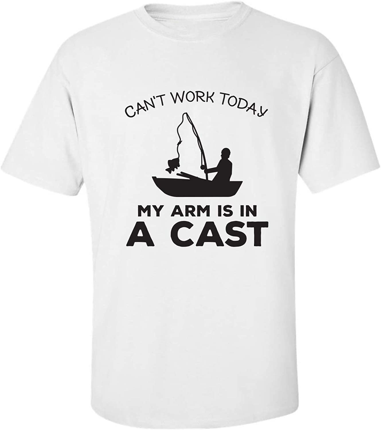 Can't Work Today.Arm in A Cast Adult Short Sleeve T-Shirt