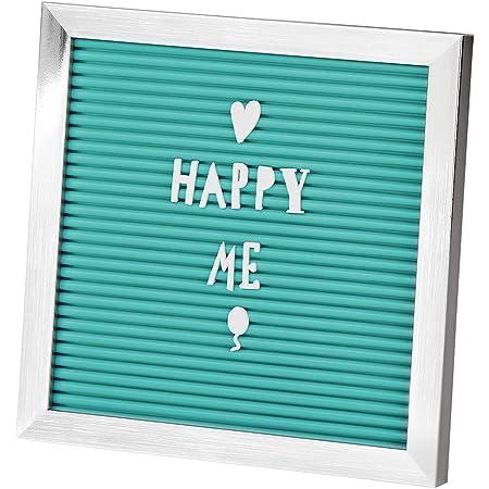 moses. Verlag GmbH Letter Tarjeta Happy Me | Ranuras Pizarra con 120Letras, números y símbolos, para Mensajes, plástico, Turquesa, One Size