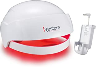 iRestore Laser Hair Growth System + Rechargeable Battery Pack – FDA-Cleared Hair Loss Product - Treats Thinning Hair for Men & Women - Laser Hair Therapy Restores Hair Thickness, Volume, Density