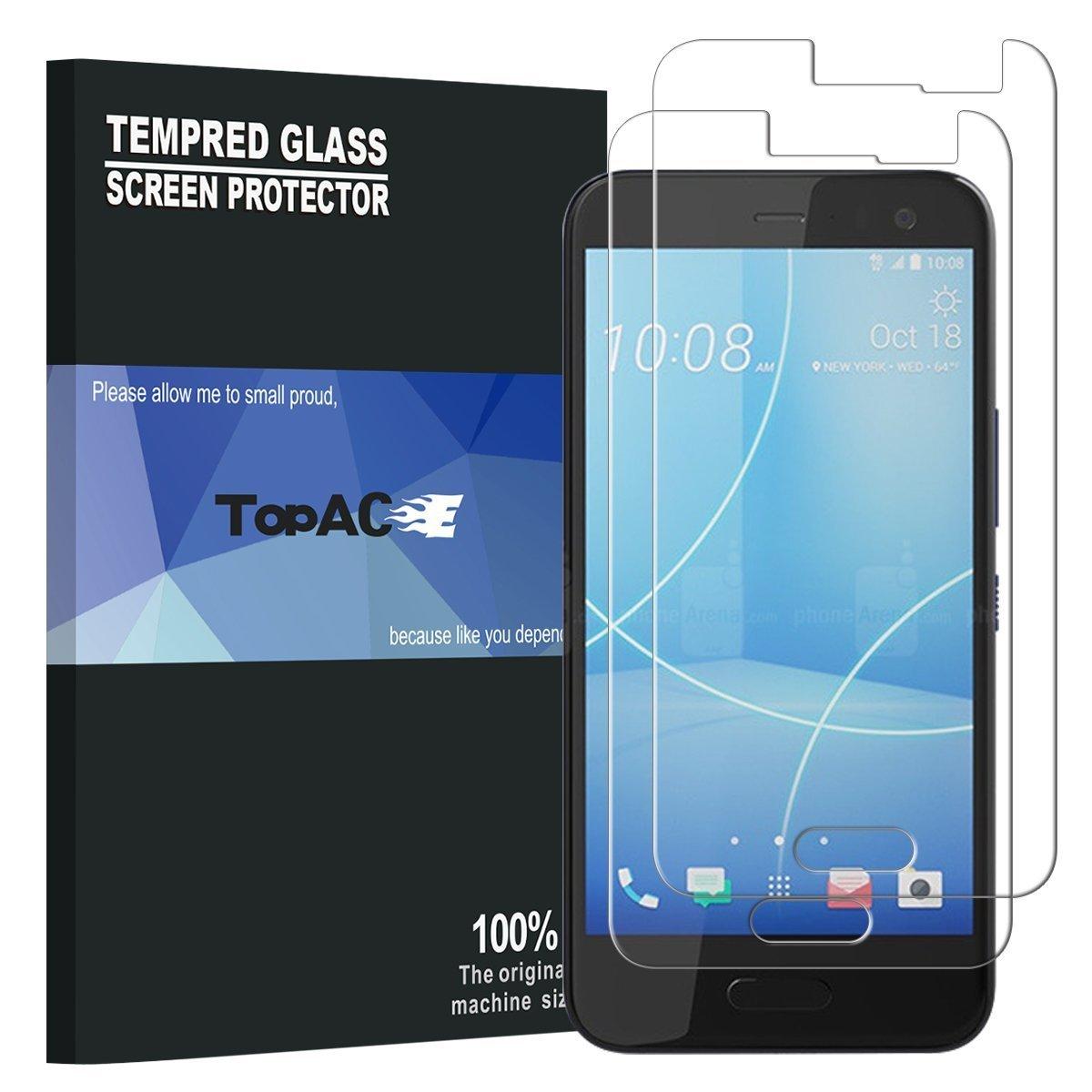 HTC U11 Life Protector de Pantalla TopACE Cristal Vidrio Templado ...