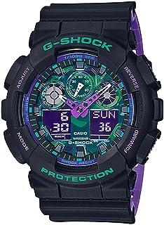 G-Shock GA100BL-1A Black and Purple Resin Watch