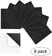 8 Pcs Rubber Foam Padding Sheets,Anti Vibration Furniture Pad,Black 4in x 4in x 1/8in Thick Self Adhesive Neoprene Foam Floor Protect Mat