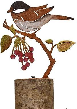 Elegant Garden Design Bird on Wild Cherry - Painted