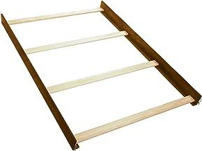 Full Size Conversion Kit Bed Rails for Babi Italia Asheville, Eastside, Hamilton, Harrington, Mayfair, Midland, Parkland, Parrish Cribs (Pecan)