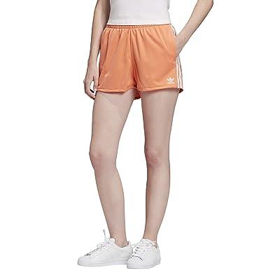 adidas Originals 3-Stripes Shorts (Semi Coral/White) Women