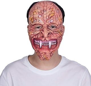 XINXI Home Halloween Tusk Ghost máscara de Terror Peluca de látex Bar Prom bromas Accesorios