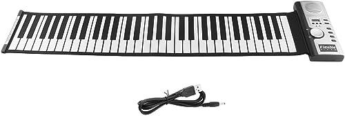 Ballylelly-Electronic Piano, 61 Tasten 128 T  Roll Up Elektronisches Klavier-Tastatur-Digital-Keyboard Klavier