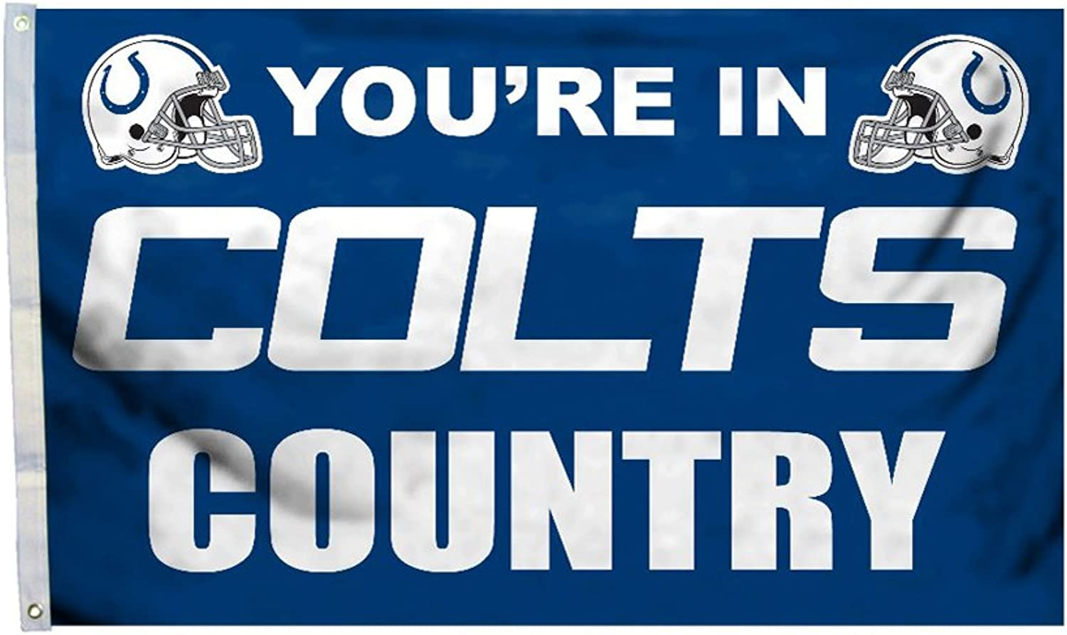 Fremont Die Inc NFL Sports League Indianapolis Colts Country 3 Ft. X 5 Ft. Polyester Flag With Grommetts