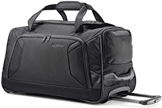 American Tourister Zoom Softside Luggage with Spinner Wheels, Black, 20-Inch Duffel