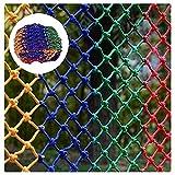 Red Seguridad Color para Niños, Cuerda 8mm Grosor Valla Juegos Red Decoración Paredes Red Cuerdas Nailon Juegos Grandes Interiores, Resistentes Red Protección Balcones(Size:1m Wide,Color:10cm Mesh)