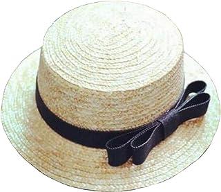 307b568f14b6e ESFSAF-hatSummer - Chapeaux de Soleil Plats pour Femmes - Chapeau de Paille  Style Panama
