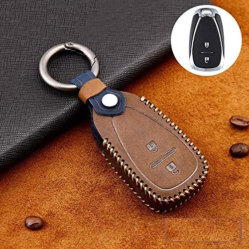 SEFKVP Couvre-clé de Voiture en Cuir à 3 Boutons. pour Toyota New Camry Highlander Corolla Prado Reiz Crown RAV4 Flip Remote Fob Case Keychain Bag