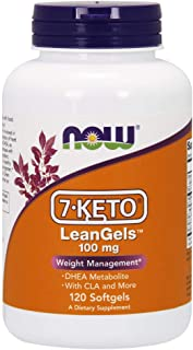NOW Supplements, 7-Keto LeanGels 100 mg with CLA, Green Tea Extract, Acetyl-L-Carnitine and Rhodiola Extract, 120 Softgels