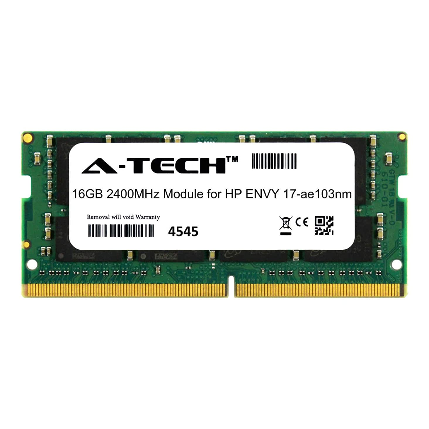 A-Tech 16GB Module for HP Envy 17-ae103nm Laptop & Notebook Compatible DDR4 2400Mhz Memory Ram (ATMS273931A25831X1)