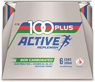 100 Plus Active Isotonic Drink (Non-carbonated), 300ml (Pack of 6)