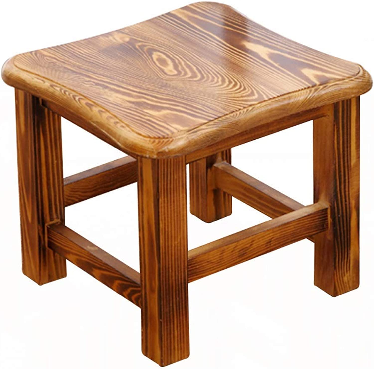 20-Moozhitech Stool - shoes Bench, Household Solid Wood Coffee Table Stool, Adult Small Stool Low Stool -Comfortable Decoration (color   A)