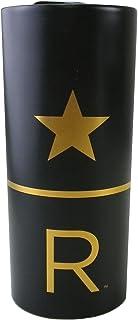 STARBUCKS スターバックス スタバ リザーブ セラミック ダブルウォールマグ マグカップ ロゴ コップ 食器 セラミック STARBUCKS RESERVE 星 スター 金 ゴールド ホワイト ブラック コーヒー 海外限定 (ブラック)
