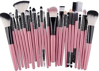 Beashine Pinceles de Maquillaje, Cosméticos Cepillo, 15 Correcciones de Maquillaje Corrector Profesional en 15 cremas de Rubor BB sintéticas Premium (25 Clarinete Rosa Palo)