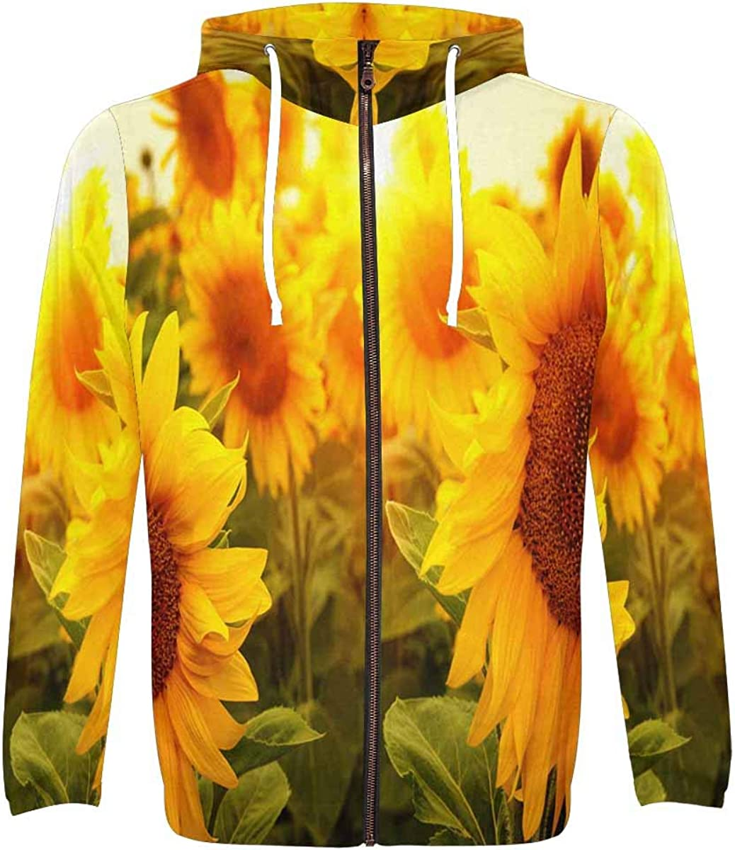 Max 41% OFF InterestPrint Men's Front Pocket Selling Pullover Zip Full Field Hoodie