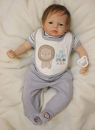 HGYG Fashion Baby Dolls 22 Pulgadas 55cm Suave Silicona Vinilo Cumpleaños Regalos Recien Nacido Magnética Reborn muñecas bebé Niño Juguete