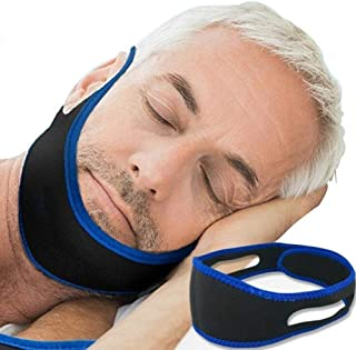 Adjustable Anti-Snore Stop Snoring Chin Strap Device Free Breathing Jaw Strap-Triangle shape (Straight)