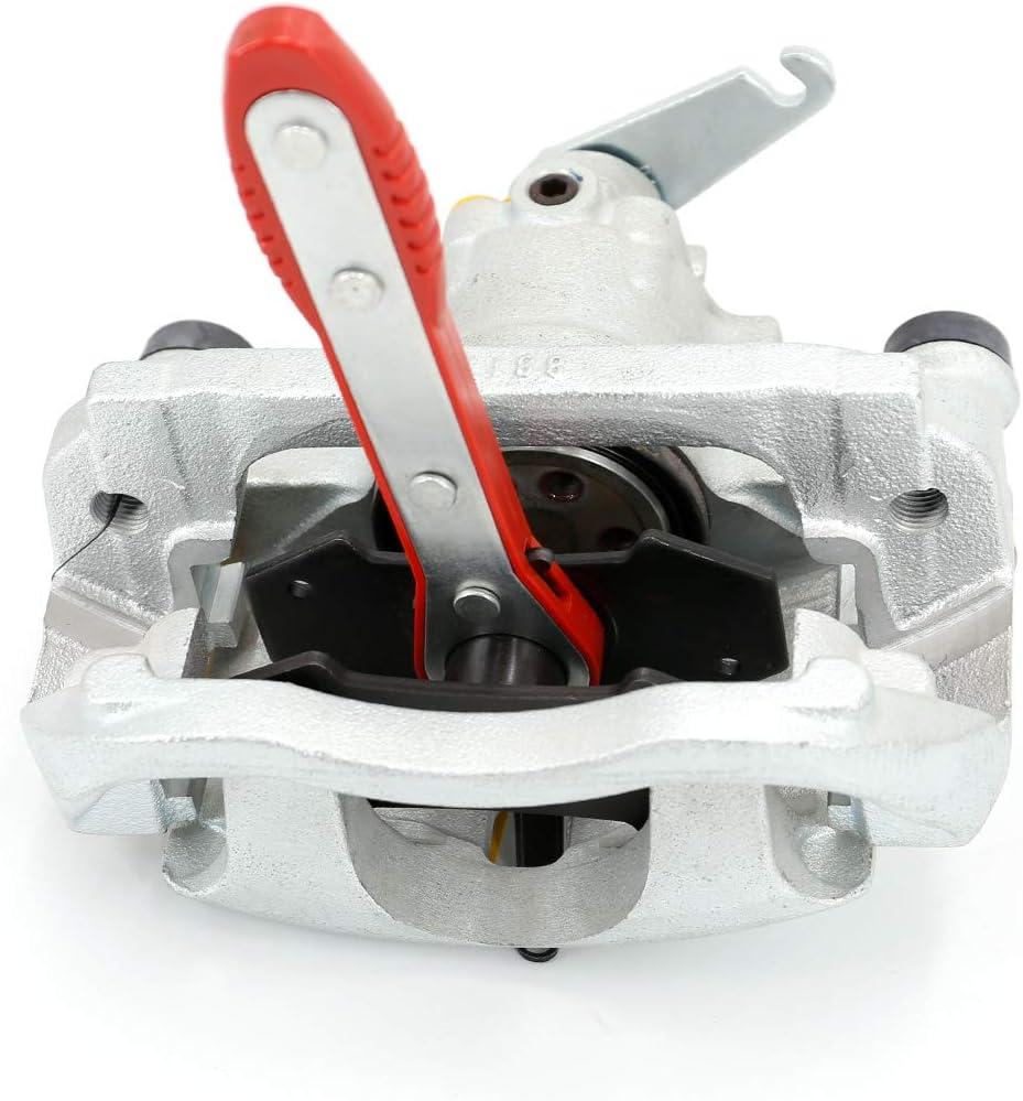 UTSAUTO Brake Caliper Press Tool Car Ratchet Brake Piston Pad Spreader Tool 360 Degree Swing Ratchet Hand Wrench Expander with 2 pcs Steel Plates